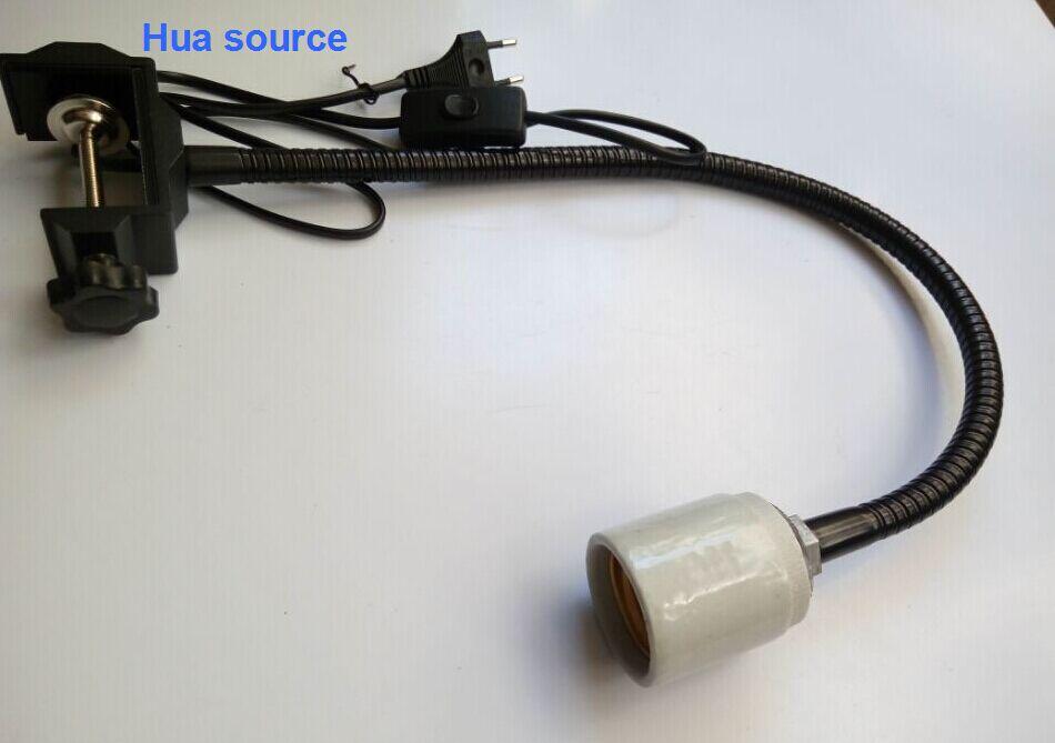 Настенные светильники DIY светодиодный Макс 40 мм аквариум зажим с лампой светильник для аквариума стент коралловый фонарь Стенд гусиная шея с зажимом E40 держатель лампы