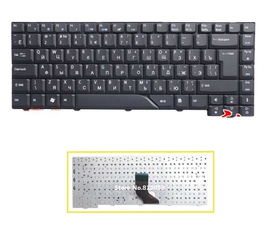 Ssea New Laptop Ru Keyboard For Acer Aspire 4210 4220 4520
