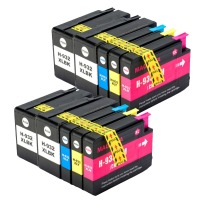 Yi Le Cai 10PK 932XL 933 Compatible For HP932 933XL Ink Cartridge For HP Officejet 6100