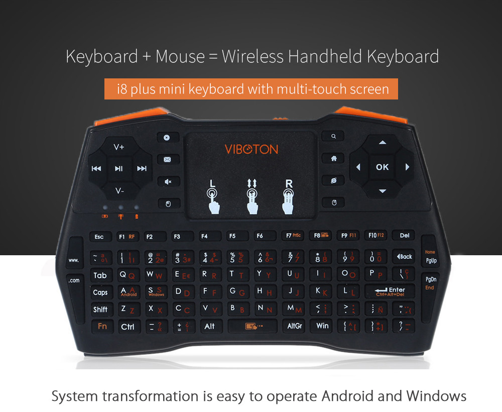 i8 plus handheld mini wireless keyboard with touchpad for orange pi raspberry pi 3 andriod tv. Black Bedroom Furniture Sets. Home Design Ideas