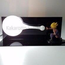 Dragon Ball Z Gohan Action Figures Super Saiyan Kamehameha Anime Dragon Ball Z Figures DBZ Collectible Model Toy +Bulb+Base