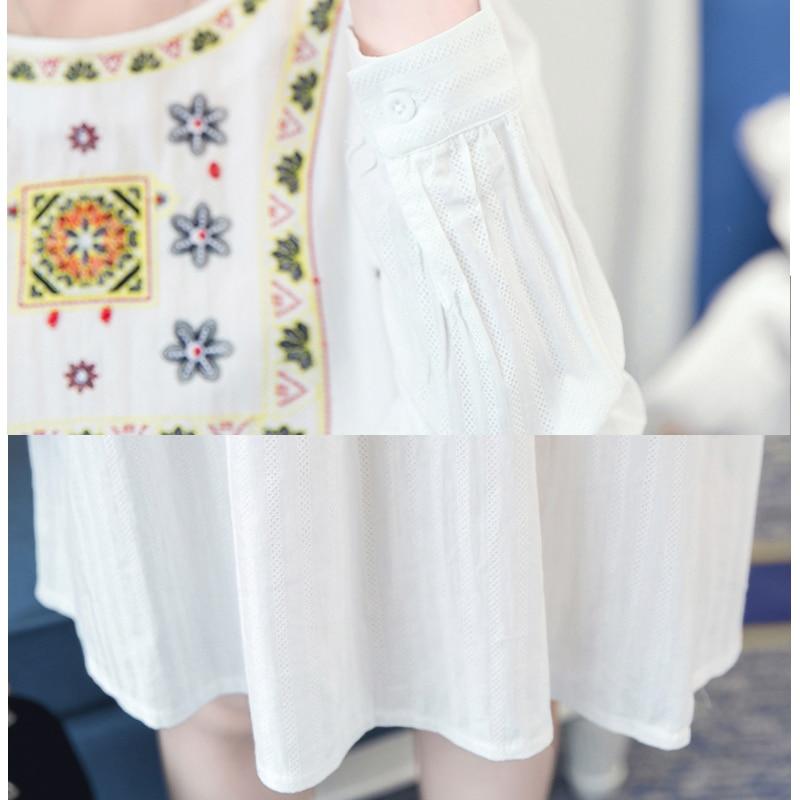91e4c23bd Vestidos de Maternidad coreano Ropa Premama Vestido Azul Bordado Vestido De  Ropa de Embarazo Las Mujeres Embarazadas Visten el Vestido Ocasional en  Vestidos ...