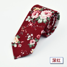 2019 New Style Fashion Necktie Casual Check Artificial Cotton Flower Roes Bow Tie Paisley Skinny Ties Men Small Designer Cravat