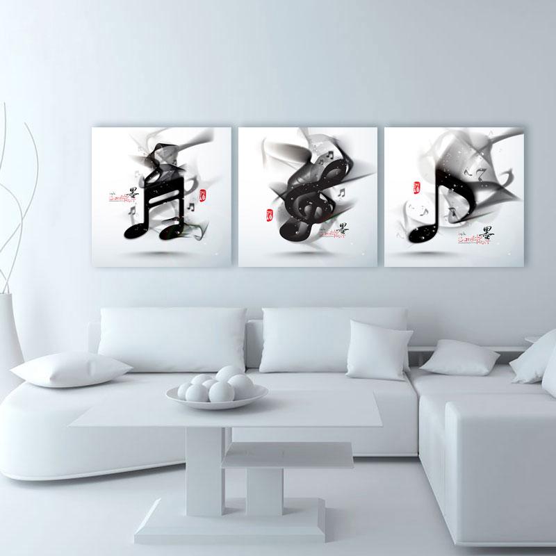 3 piece kanvas abstrak seni hitam putih musik cuadros cetak lukisan poster lukisan minyak gambar dinding untuk ruang tamu modern di painting calligraphy