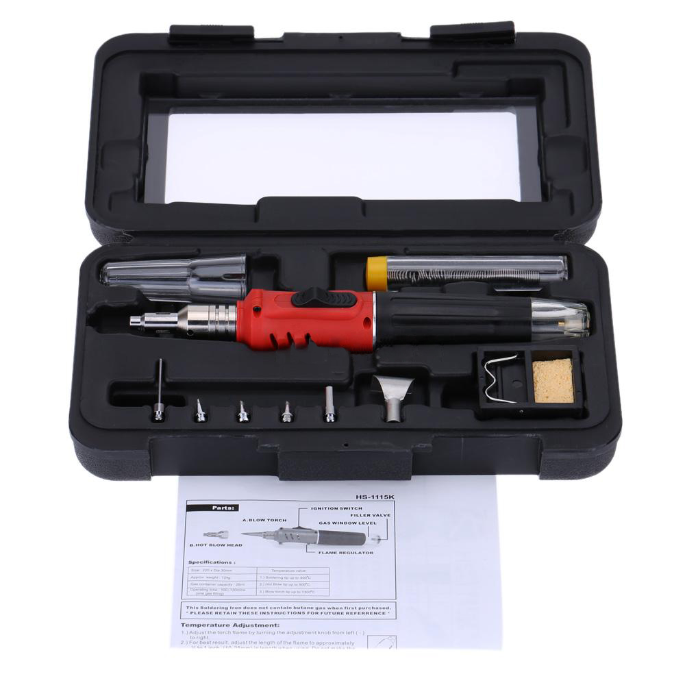 WSFS Hot Sale HS-1115K Professional Butane Gas Soldering Iron Kit Welding Kit Torch 2015 sale gas burner wp 17v sr 17v tig welding torch complete 20feet 6meter soldering iron gas valve control air cooled 150amp