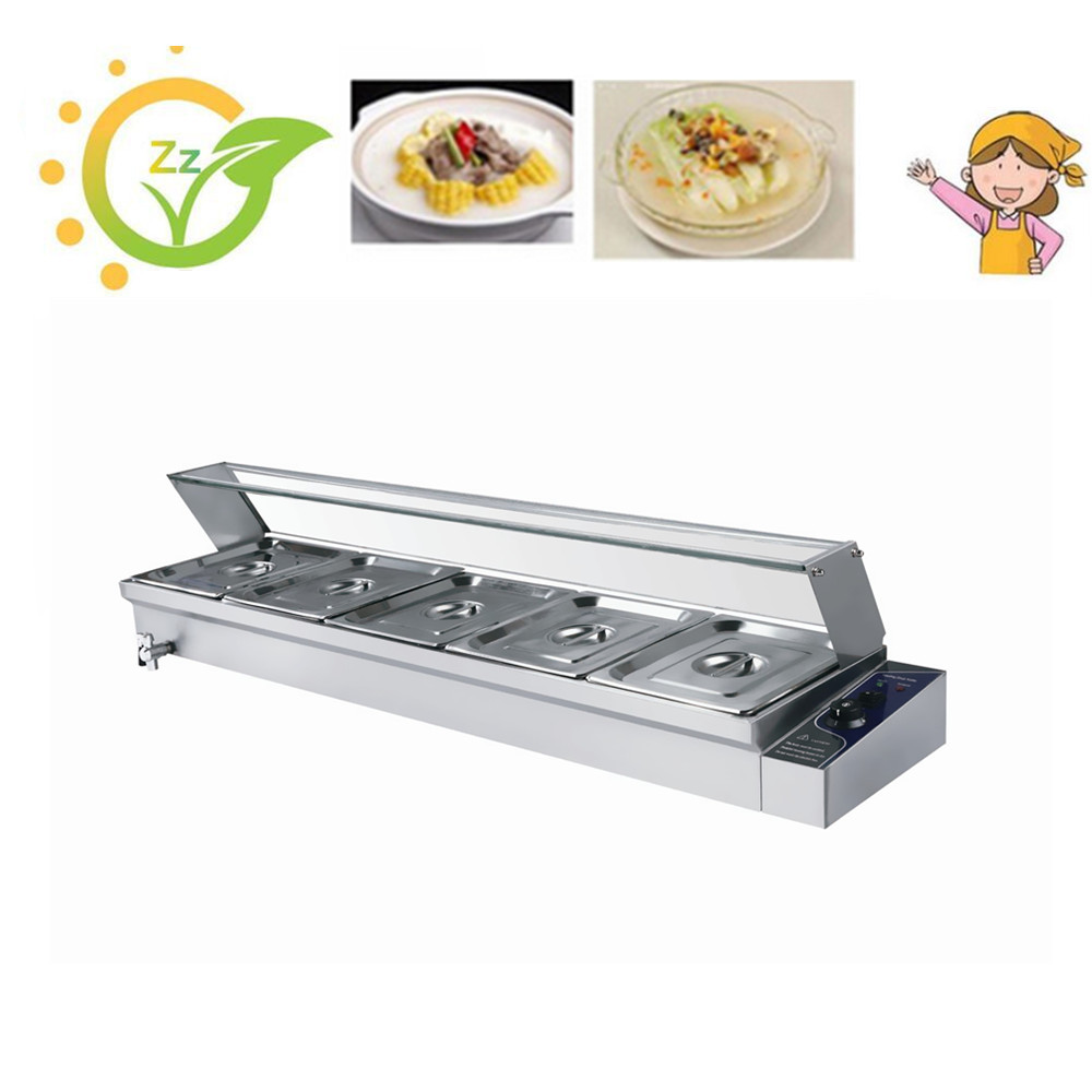 1 Piece 5 Pans top quality wet heat countertop Stainless Steel Food Warmer Electric Bain Marie  buffet tools