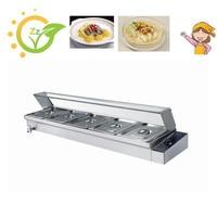 1 peça 5 panelas de alta qualidade calor molhado bancada aço inoxidável alimentos aquecedor elétrico bain marie buffet ferramentas|Processadores de alimentos| |  -