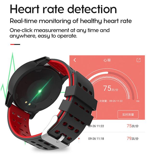 MAFAM Smart Watch Men Women Heart Rate Blood Pressure Oxygen Monitor Fitness Tracker Alarm Reminder Smartwatch Clock Sport Watch