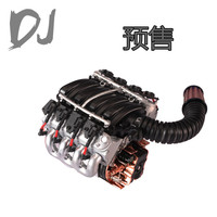 Simulate V8 6.2 Engine Motor Cooling Fan Radiator for Traxxas TRX4 Defender Axial SCX10 D90 D110 1/10 RC Crawler Car