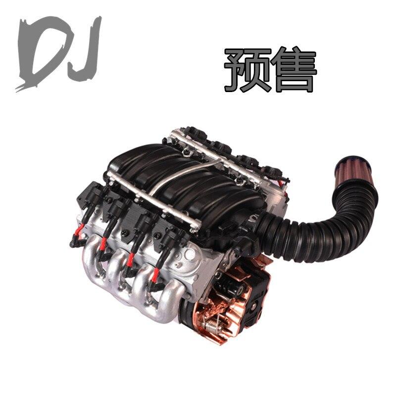 Simuler V8 6.2 moteur moteur ventilateur de refroidissement radiateur pour Traxxas TRX4 Defender Axial SCX10 D90 D110 1/10 RC voiture sur chenilles