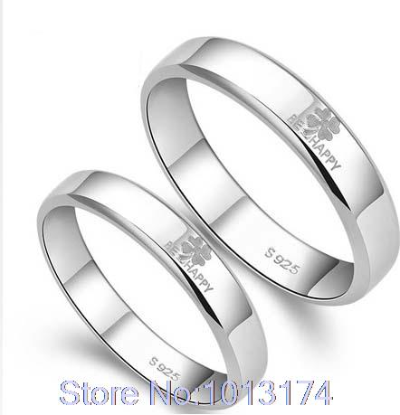 Wedding bandFour Leaf Clover happy engagement rings for love925