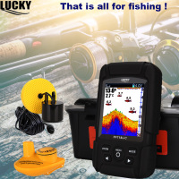 Lucky FF718LiC Real Waterproof Fish Finder Monitor 2 in 1 Wireless Sonar 328ft /100m fishfinder depth Sonar Wired Transducer #B7