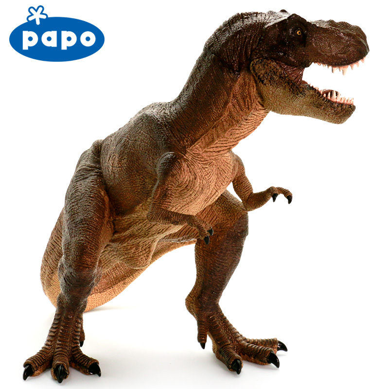 Papo Tyrannosaurus rex Simulated Dinosaur Model Museum Collection Jurassic World Ancient Creatures Children's Toys цена 2017