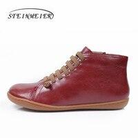 الرجال الشتاء الثلوج الأحذية جلد طبيعي الكاحل الربيع حذاء مسطح رجل قصيرة البني الأحذية مع الفراء 2019 للرجال الدانتيل يصل الأحذية|أحذية أساسية|أحذية -