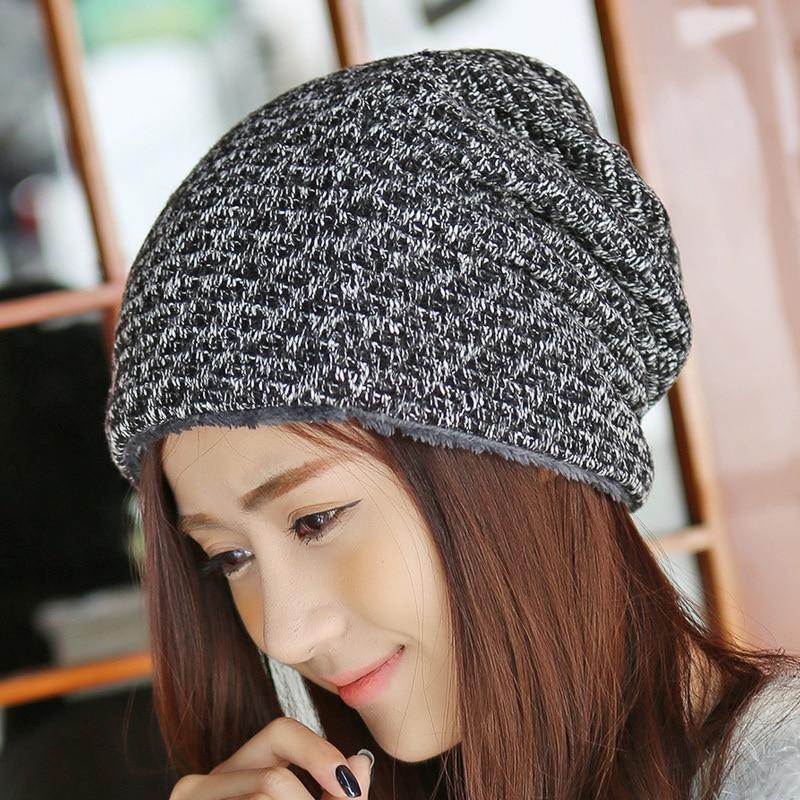 Sombrero de invierno Gorros de piel de punto Gorras cálidas Skullies - Accesorios para la ropa - foto 2