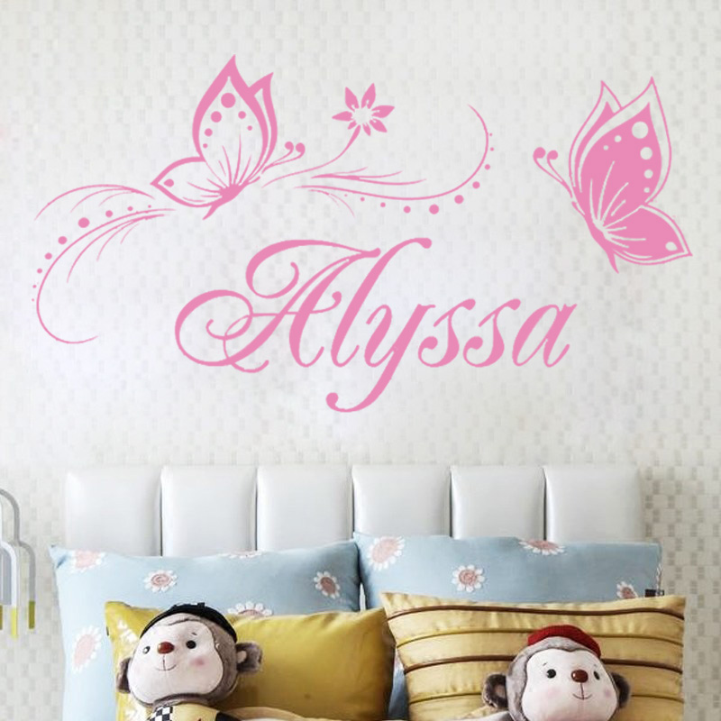 personalized name butterfly wall stickers for kids butterfly decorative wall stickers for kids room buy