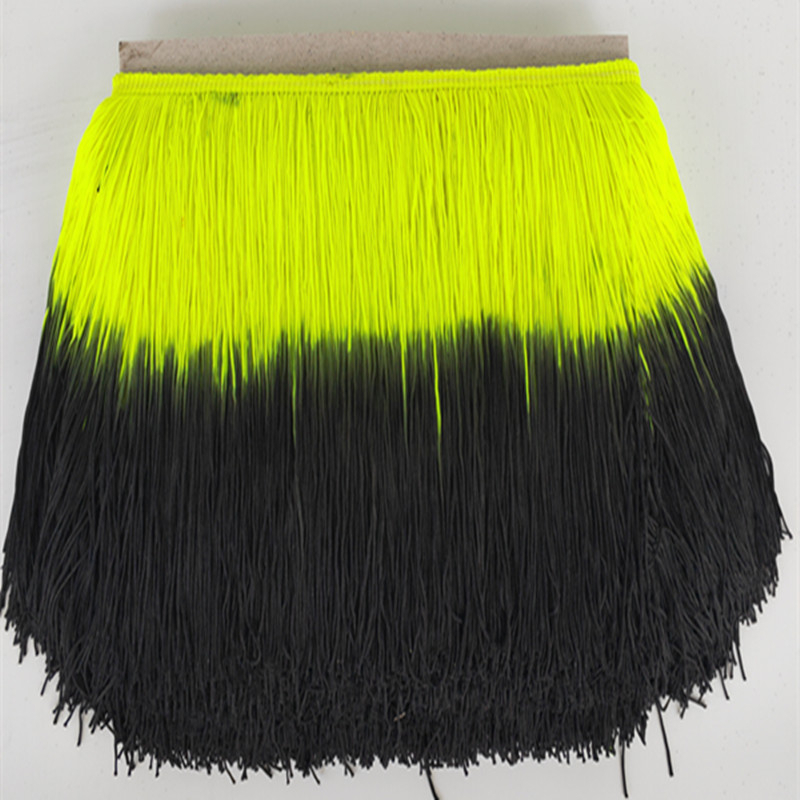 10Yards/lot 20cm Wide Yellow Lace Fringe Trim Tassel Fringe Trimming For DIY Latin Dress Stage Clothes Accessories Lace Ribbon