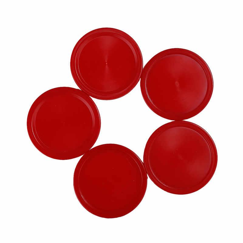 5 шт. Горячий Новый высокое качество дети Крытый настольная игра игрушки красный пластик мини воздушный Хоккей Шайба прочный практич