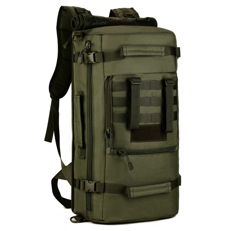 50L Large Outdoor Sports Bag Camping Hiking Climbing Pack Fishing Bags Multifunction Military font b Tactical