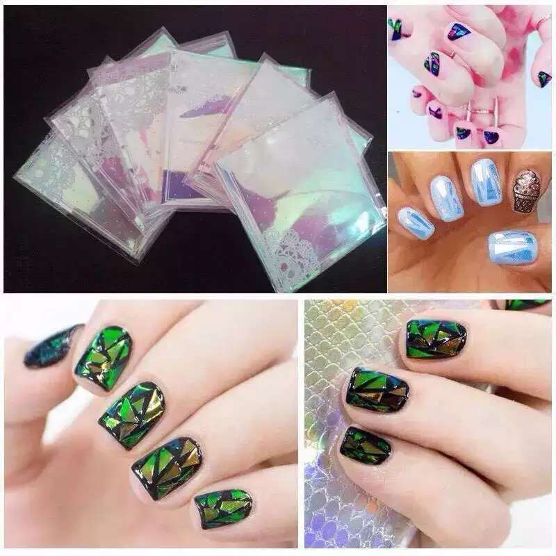 5x100cm Japanese style shining brilliantly coloured nail art ...