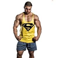 NPC Gym Bodybuilding Racerback Tank Tops Men Fitness Sleeveless Vest Cotton Singlets Gasp Muscle Shirt