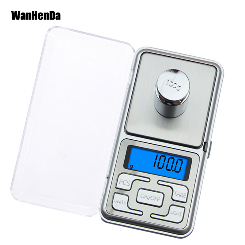 Electronic Pocket Mini Digital Gold Jewellery Weighing Scales 0.01G to 1000 Gram