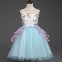 Girls Unicorn Dress Unicorn Party Princess Dress Baby Girl Dresses Vestidos Unicornio Cumpleanos vestido de festa Ninas Infantil