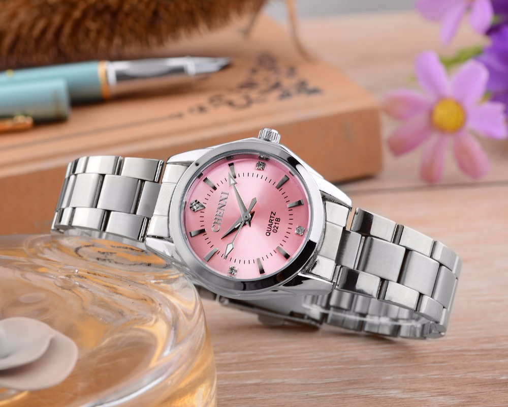 6 Fashion colors CHENXI CX021B Brand relogio Luxury Women's Casual watches waterproof watch women fashion Dress Rhinestone watch 15