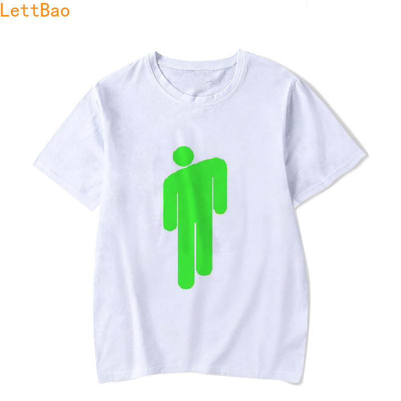 Billie Eilish 90S Vintage White Cotton T Shirt Men Brand Clothes Funny T Shirts Summer Top Cotton Casual Retro Tee Shirt Homme