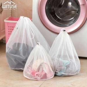Image 1 - 3 גודל רשת שק כביסה גרבי תחתוני כביסה מכונת ClothesClothing מתקפל מסנן תחתוני חזיית שק כביסה כביסה