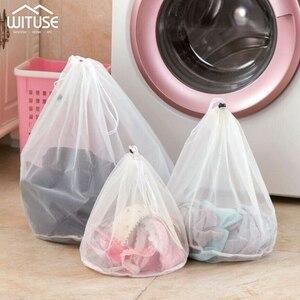 Image 1 - 3 Size Mesh Laundry Bag Socks Underwear Washing Machine ClothesClothing Foldable Filter Underwear Bra Washing Laundry bag