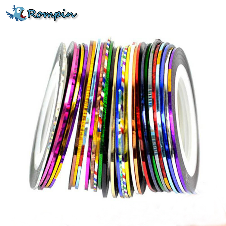 Rompin 14pcs/lot Metal Tinsel laser Chenile Glittering Tape Line For Fly Tying Bugs Larve Midge Body Head Decorate Material laser head owx8060 owy8075 onp8170