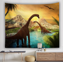 Decorative tapestry Wall Hanging home decor curtain spread covers cloth blanket art tapestry dinosaur picture giant poster цена