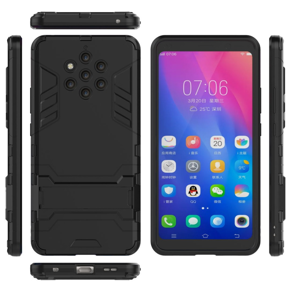 Kickstand <font><b>Case</b></font> For <font><b>Nokia</b></font> 1 2 3 6 8 9 6.1 X5 X6 X7 7 Plus 2.1 5.1 7.1 <font><b>8.1</b></font> 2018 Cover <font><b>Silicone</b></font> Rubber Armor Hard Phone Back Coque image