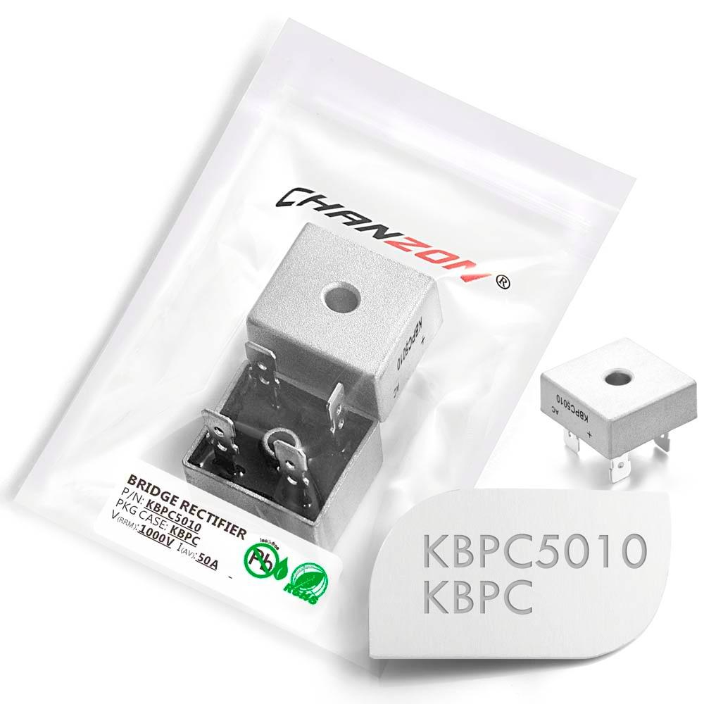 2 Pcs KBPC5010 Bridge Rectifier Diode 50A 1000V KBPC 5010 Single Phase Full Wave 50 Amp 1000 Volt Electronic Silicon