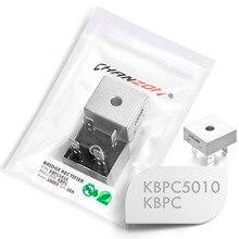 2 шт. KBPC5010 Мостовой выпрямитель диод 50А 1000 В kбпц 5010 однофазный Полный волны 50 Ампер 1000 Вольт электронный кремний