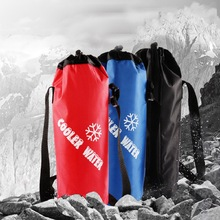 Mounchain Camping Drawstring Water Bottle Pouch High Capacity Insulated Cooler Bag for Traveling, Camping, Hiking