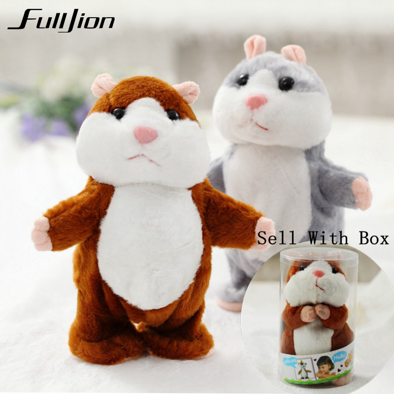 Fulljion Talking Hamster Plush Toys For Children Stuffed Animals Kids Kawaii Mouse Dolls Educational Speak Pet Gift Sound Record talking hamster speak talk sound record repeat stuffed plush animal child toy
