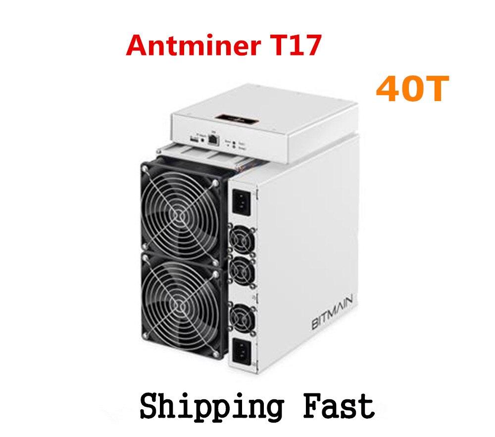 BITAMAIN Mais Novo BCH BTC Mineiro AntMiner T17 38TH/S Com PSU Melhor Do Que S17 Pro S15 S11 S9 T15 innosilicon T3 WhatsMiner M3X M20S