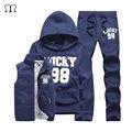 Three-Piece Set Tracksuit Men Winter Warm Thick Hoodies Men Tracksuit Set Jacket Vest Pants Moletons Masculino Sweat Homme 2016