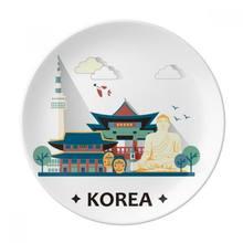Туристические аттракционы Сеул в Корее десертная тарелка декоративный