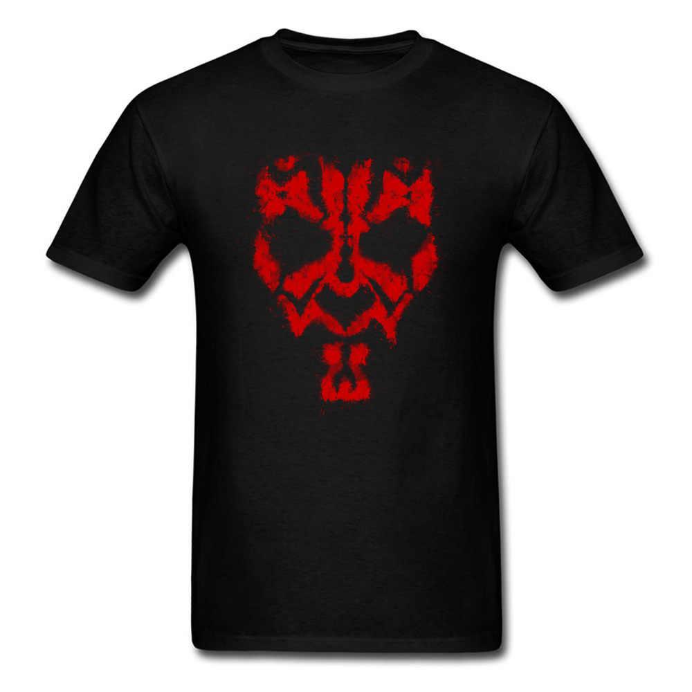 Yuvarlak Yakalı Yıldız Savaşları Darth Maul Grunge Michael Jackson Kumaş Erkek T-shirt Yaz Tees Tops 2018 popüler tişört Simge Kılıfı
