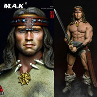 Kaustic Plastik MC01 2019 1/6 Barbarian Conan Arno Leather Apparel clothing weapon set with head For 12 inches male Body M34