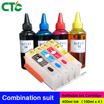 4 Colors For 655 Empty Refillable Ink Cartridge With Resettable Chip For Deskjet 3525 4615 4625 5525 6525 Printer image