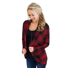 chic women blouse hot female womens top shirt ladies  plaid festivals classics sports clothes