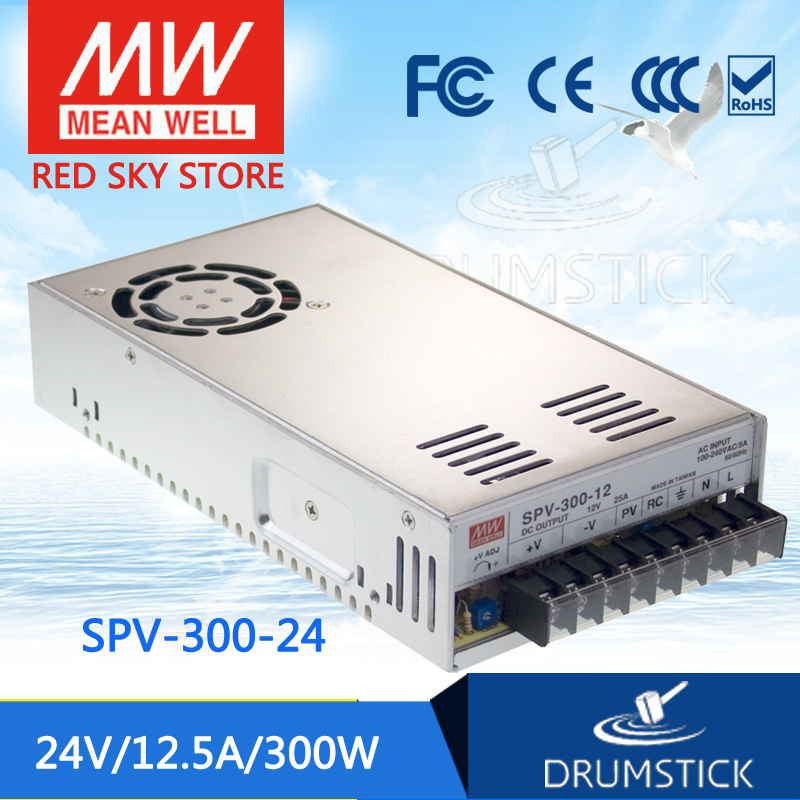 цена Selling Hot MEAN WELL SPV-300-24 24V 12.5A meanwell SPV-300 24V 300W Single Output with PFC Function Power Supply