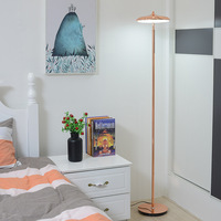 Modern Nordic Design Rose Gold White Black Yellow Tall Led Foot Standing Floor Lamp With Table for Living Room Beauty Salon