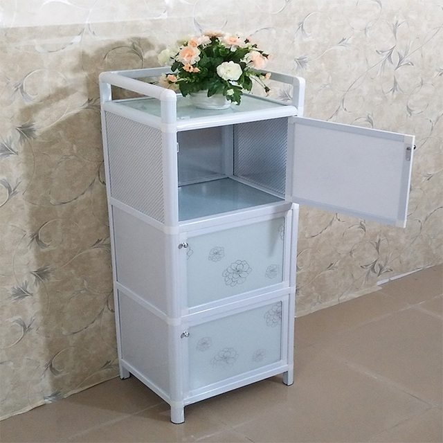 Aluminum Kitchen Cabinets Cabinet Organizers Cupboards Microwave Ovens Cupboard Lockers Tempered Glass Balcony