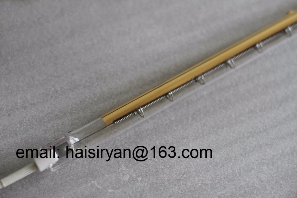 golden coating short wave IR emitter halogen lamp infrared heaters quartz heating elements