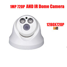 free shipping HD Surveillance 2000TVL Dome CCTV Camera 1MP AHD Camera 720P Security IR 20M Nightvision Work For AHD DVR